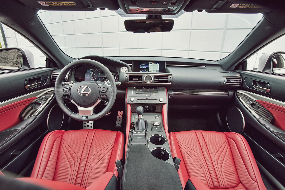 innenraum lexus rc f 35 2015 herstellerfotos. Black Bedroom Furniture Sets. Home Design Ideas